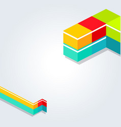 abstract digital geometric background with place vector image vector image