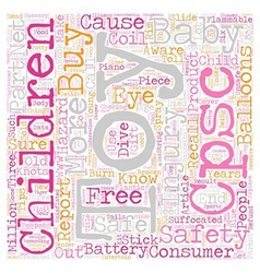 Baby toy safety text background wordcloud concept vector