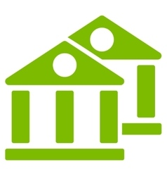 Banks icon from Business Bicolor Set vector image