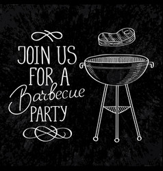 barbecue calligraphic template vector image vector image