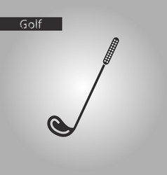 Black and white style icon golf club vector