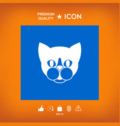 Cat - logo protect sign icon vector
