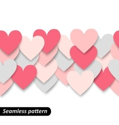 Colorful hearts seamless border vector