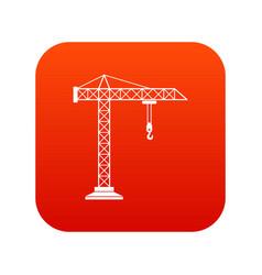 construction crane icon digital red vector image