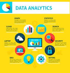 data analytics infographic vector image