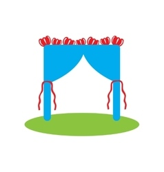 Flat web icon on white background wedding arch vector