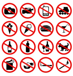 Forbidding pictograms vector