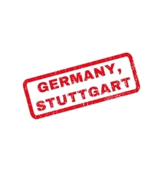 Germany Stuttgart Rubber Stamp vector image