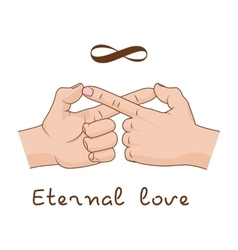 Hands making infinity symbol Eternal love and vector image vector image