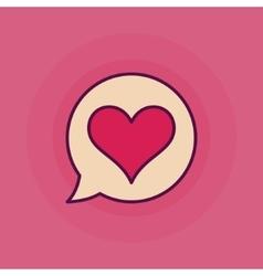 Heart in speech bubble symbol vector image