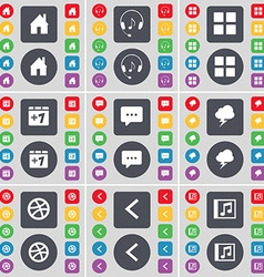 House Headphones Apps Plus one Chat bubble vector image
