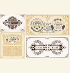Labels and cards set vector