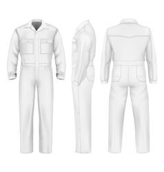 Men overalls vector