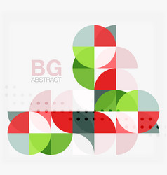 modern elegant geometric circles abstract vector image
