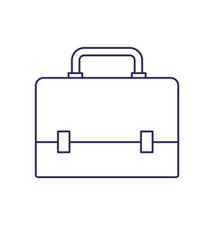 Purple line contour of executive briefcase vector
