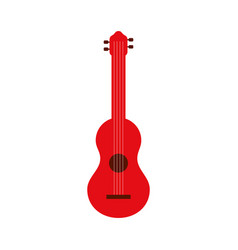 red guitar instrument music acoustic vector image vector image