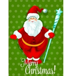 Santa Claus Christmas Day greeting card design vector image