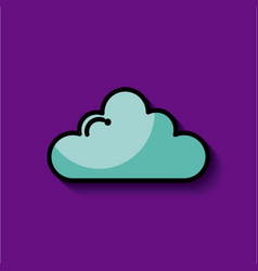 Single cartoon cloud image vector