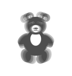 Teddy bear sign gray icon vector