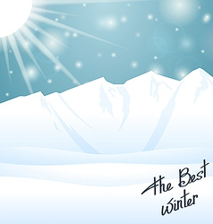 The best winter happy holiday vector image