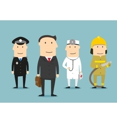 Professional occupation characters people vector