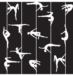 Pole dancer silhouette vector