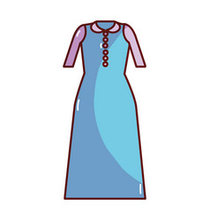 Long dress cloth style vector