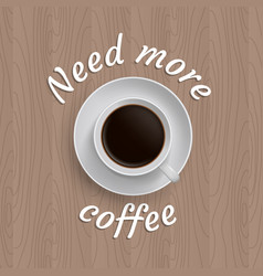 poster with cup of coffee vector image
