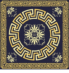 Greek ornament meander vector