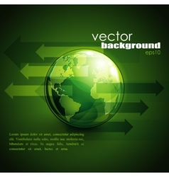 Business concept design with green globe and vector