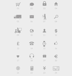 Internet store or shop e-commerce icons vector