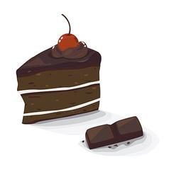 Choc cake vector