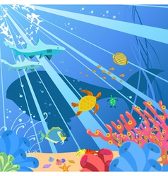 Underwater sealife vector