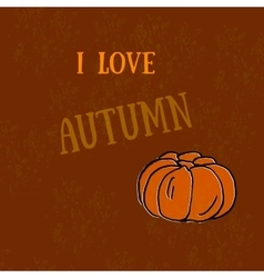 Autumn - harvest pumpkins pumpkin print the vector