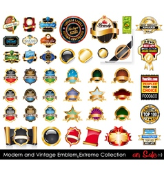 Modern and vintage emblems vector