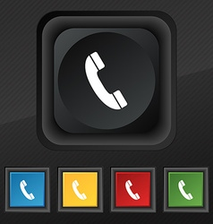 Call icon symbol set of five colorful stylish vector