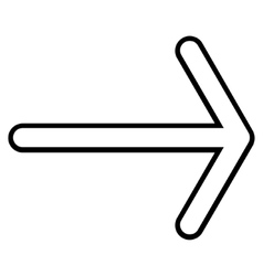 Arrow right thin line icon vector