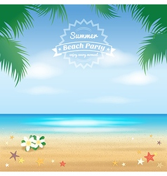 Event Summer beach party enjoy vector image