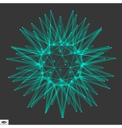 Sphere glowing grid connection structure vector