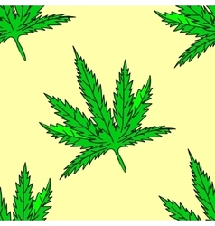 Cannabis leaf seamless vector