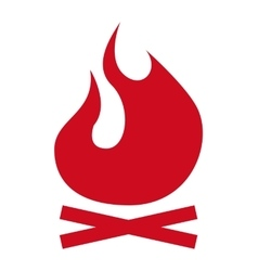 Fire flame signal icon vector