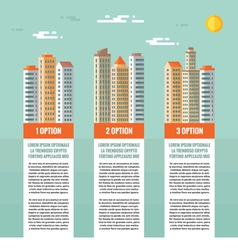 Buildings - infographic concept vector image