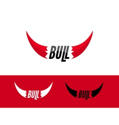 Bull logo design template Flat bull logo sign vector image