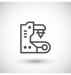Conveyor equipment line icon vector