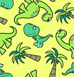 Cute dinosaur seamless pattern vector