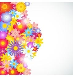 Flower background brochure template vector