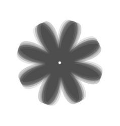 Flower sign gray icon shaked vector
