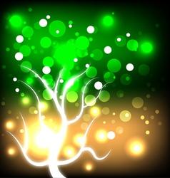 glowing autumn tree vector image vector image