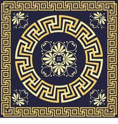 Greek ornament meander vector