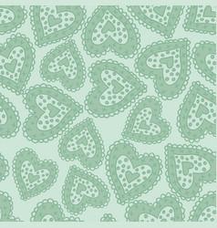Hearts light green vector